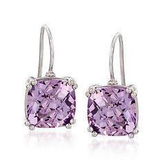 Ross-Simons - 7.50 ct. t.w. Amethyst Drop Earrings