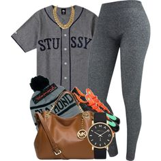 1|18|14 by rabruquel on Polyvore featuring Stussy, MICHAEL Michael Kors, MARC BY MARC JACOBS, Diamond Supply Co. and NIKE