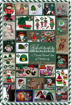 Elves - 12 Crochet Round Ups of Christmas via @beckastreasures