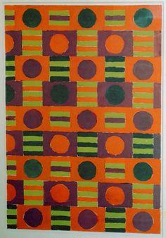 Gunta Stölzl design for fabric   love these colors!