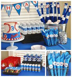 Baseball Birthday Party Ideas | Photo 3 of 6 Baseball Birthday Party, Sports Birthday, Boy Birthday Parties, Birthday Fun, Birthday Ideas, Softball Party, Sports Party, Baby Shower, First Birthdays