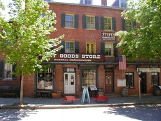 Heinrich's Dry Goods in THE QUILTED HEART novellas would've been a brick building like this.  harpers ferry - the family dry goods store