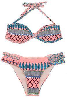 Coral Frida Braided Bikini Strappy Bikini Top dc4e43a0a41