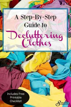 declutter clothes | clutter free home | clothes clutter | reduce your wardrobe