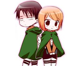 levi x petra,Attack on titan, chibi, cute