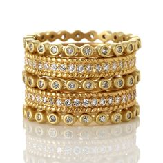 Set of 5 Mixed Eternity Rings