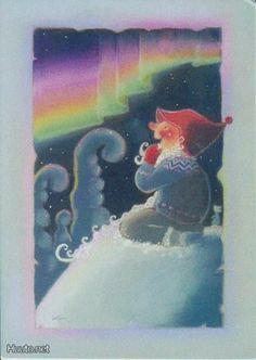 Kaarina Toivanen - Revontulinäytös -Merry Christmas -text at the back in Finnish Merry Christmas Text, Christmas Clipart, Christmas Greetings, Christmas Crafts, Coastal Christmas, Naive Art, Craft Activities, Yule, Finland