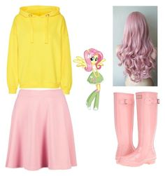 """""""Fluttershy Outfit Redesign"""" by canehdiengirl on Polyvore featuring Hunter and Boohoo"""