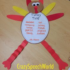 Turkey craft for spe