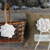Matching set for flower girl and ring bearer (rustic wedding) by Jadiecakes