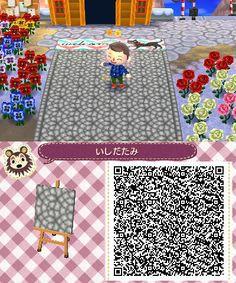 Stone Semi Circular Path Animal Crossing New Leaf Qr Code 3/3