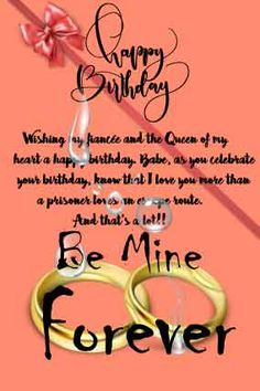 11 great BIRTHDAY LETTER FOR FIANCEE images | Birthday letters