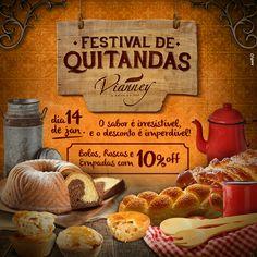 Festival Quitandas de Minas com tudo que há de mais gostoso na nossa culinária mineira, todos os bolos, roscas e empadas com 10% de desconto. Dia 14/01.