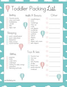 Printable Packing List For A Trip Definitely Using This For My