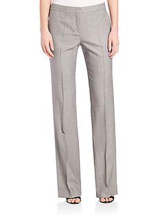 BOSS Tulea4 Mid-Rise Dress Pants - Grey - Size 0