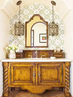 love this - the Spanish hacienda feel - plus all wood furniture that is carved or unusual catches my eye