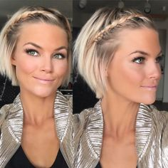 Coiffure Cheveux Gericht Tresse super sympa Coiffure Cheveux Gericht Tresse s - Kurz haare Short Bob Hairstyles, Hairstyles With Bangs, Summer Hairstyles, Braided Hairstyles, Cool Hairstyles, Hairstyle Images, Blonde Haircuts, Haircut Short, Wedding Hairstyles