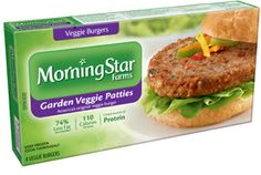 Mushrooms, water chestnuts, onion, carrots, bell peppers and black olives ... so much veggie goodness in one burger. *MorningStar Farms® Garden Veggie Patties™ contain 74% less fat than regular ground beef. Regular ground beef contains 15g total fat per serving (67g). MorningStar Farms® Garden Veggie Patties contain 3.5g total fat per serving (67g).