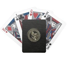 Diamond Plate & St Mike Playing Cards