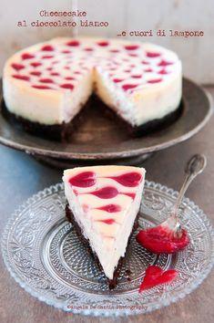 Cheesecake al cioccolato bianco e cuori di lampone  #ackyart