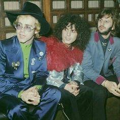 Elton John, Marc Bolan, and Ringo
