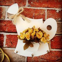 Porta chave em Mdf flor artificial