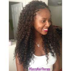 Crochet braids with freetress deep twist hair. Follow @SassyHairTherapy on IG.