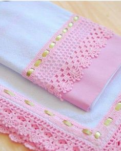64 Ideas For Knitting Stitches Lace Tricot Crochet Edging Patterns, Crochet Lace Edging, Crochet Borders, Crochet Trim, Crochet Designs, Crochet Flowers, Crochet Hooks, Knitting Stitches, Baby Knitting