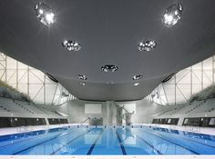Devised by Pritzker Prize–winning architect Zaha Hadid, The Aquatics Center in London was made for the 2012 summer Olympics.