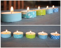 Who needs a candleholder when you've got washi tape? See more at helenmills.me   - HouseBeautiful.com