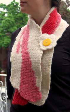 Bacon and egg scarf. of course