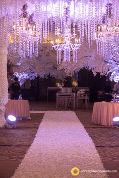 Lightworks with Lotus Decor for Dharma and Cana's wedding reception in Intercontinental Hotel  www.lightworksjakarta.com