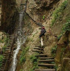 stairs to cliff - Google Search