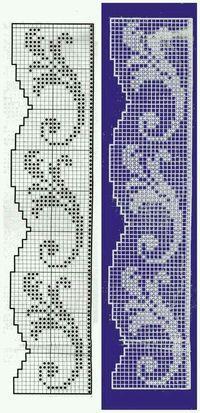 Gráficos barrado croche