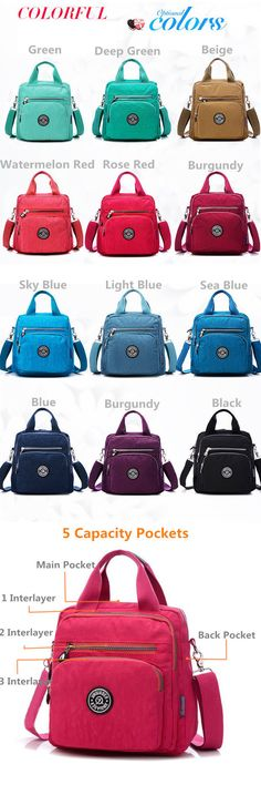 Multifunction Waterproof Light Handbags Outdoor Shoulder Bags Crossbody Bags Backpack