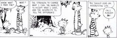 Prayer according to Calvin and Hobbes | Christian Funny Pictures - A time to laugh