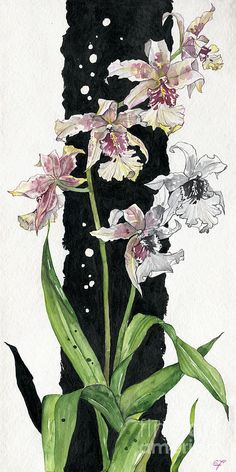 Flower ORCHID 06 Elena Yakubovich Painting - Flower ORCHID 06 Elena Yakubovich Fine Art Print