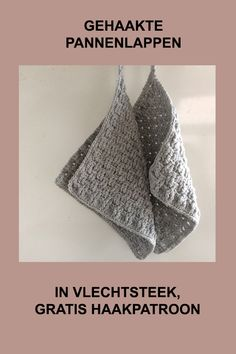 Topflappen Haken Gehaakte pannenlap in weefsteek Crochet Home, Cute Crochet, Beautiful Crochet, Crochet Crafts, Crochet Yarn, Crochet Projects, Diy Haken, Crochet Hedgehog, Accessoires Divers
