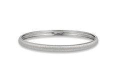 Satin Finish Bangle Bracelet - in Sterling Silver