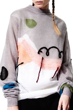 Mirella Bee Pattern Pollinating Visionist and Designer - exercicedestyle: Stas Martynov Fashion Details, Fashion Design, Knitting Blogs, Pullover, Sweatshirt, Knit Fashion, Diy Shirt, Mode Inspiration, Sweater Weather