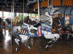 Carousel horse on Carousel that was originally at Mesker Park in Evansville In, now in South Carolina