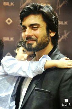 Fawad Khan with his son Ayaan