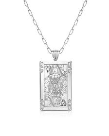 Sterling Silver Queen of Hearts Necklace - Sho London #SilverJewelry