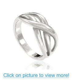 Chuvora 925 Sterling Silver Double Infinity Ring, Together Forever $ Love Symbol Ring for Women - Nickel Free #Chuvora #Sterling #Silver #Double #Infinity #Ring #Together #Forever # #Love #Symbol #Women #Nickel #Free