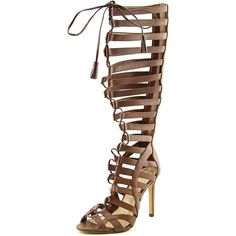 daa8725a5d7 Vince Camuto Olivian Womens Knee High Gladiator Sandals dark walnut Size 75     Find out more about the great product at the image link.