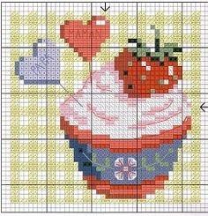cross stitch chart Cross Stitch Gallery, Simple Cross Stitch, Cross Stitch Kits, Cross Stitch Charts, Cross Stitch Patterns, Embroidery Art, Cross Stitch Embroidery, Cross Stitch Kitchen, Bargello