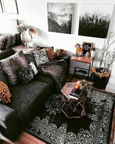 My cozy living room, styled with rustic home decor pieces. The perfect spot for … My cozy living room, styled with rustic home decor pieces. The perfect spot for a hygge home mindset. Cozy Living Rooms, Home Living Room, Apartment Living, Living Room Decor, Gothic Living Rooms, Rustic Apartment, Deco Studio, Studio Apartment Decorating, Bohemian Studio Apartment