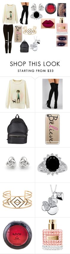 """""""Untitled #90"""" by gryffindor-queen ❤ liked on Polyvore featuring Liliana, Yves Saint Laurent, Casetify, Georgini, Stella & Dot, Disney and NYX"""