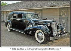 1937 Cadillac V-16 Imperial Cabriolet by Fleetwood