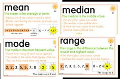 Classroom Freebies Too: Mean, Median, Mode and Range Foldable